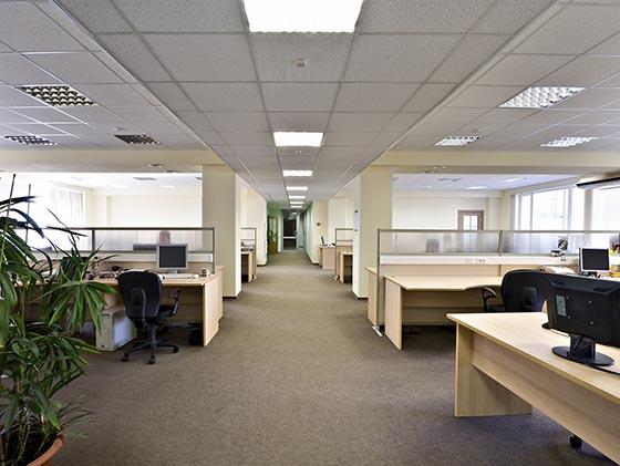 Clean office floor